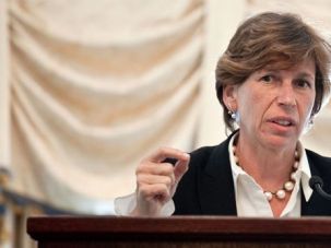 Tough Talker: Randi Weingarten, president of the AFT, addresses the Albert Shanker Institute in Washington on April 28. With the departure of Andy Stern from the SEIU, Weingarten is considered the top Jewish labor leader in the country. She succeeds Stern as the most prominent Jewish labor leader.