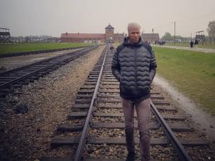 Ray Allen at Auschwitz.
