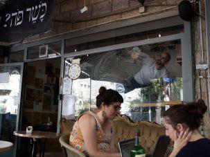 Diners at a cafe in West Jerusalem.