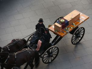The remains of King Richard III, a person who once existed.