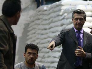 Grandi Vision: Filippo Grandi, the head of UNRWA, inspects relief operation in Gaza.
