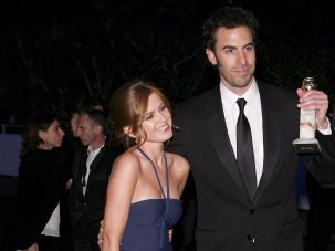 Sacha Baron Cohen and his wife, actress Isla Fisher.