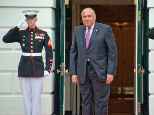Sameh Shoukry is set to visit Israel in the first visit by an Egyptian Foreign Minister in nearly a decade.