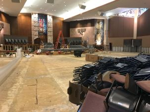 Houston synagogue after Hurricane Harvey.