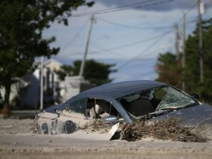 Under Water: Sandy left communities like the Rockaways in deep despair.