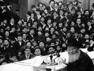 Charismatic Leadership: The Lubavitcher Rebbe, Menachem Mendel Schneerson, pictured here in the 1970s, built a movement that stretched around the globe.