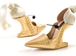 Shoes modeled after Madonna's Blond Ambition