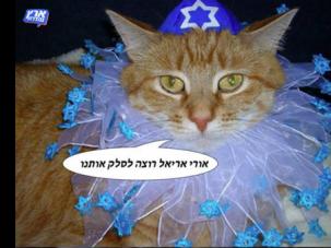 "A meme from the Facebook of Israeli satirical show, ""Eretz Nehederet""."