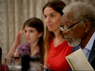 """Morgan Freeman attends a Seder as part of his show """"The Story of God."""""""