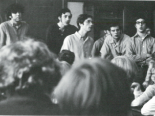 The gang : In their high school yearbook, Larry Cohler-Esses on the far left; Joe Glicker in the center and Mansie O'Young on the far right.