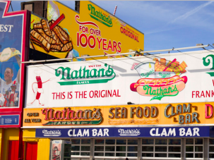 The Coney Island hot dog vendor is celebrating its 100th anniversary this year.
