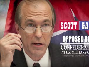 Ad criticizing Republican congressman Scott Garrett for his conservative views