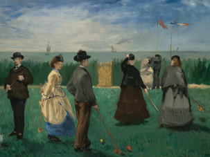 "Édouard Manet's ""Croquet Players."""