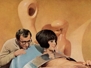 "Woody Allen and Daliah Lavi in the 1967 James Bond spoof ""Casino Royale."""