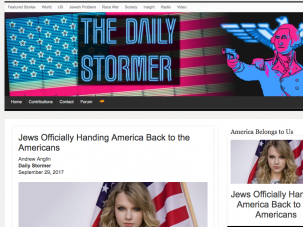 The banner image of the Daily Stormer now features the American flag.