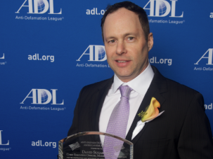 David Sugarman, president and CEO of the Manischewitz Company, was presented with the prestigious Americanism Award at the Annual Gala Celebration of the Anti-Defamation League.