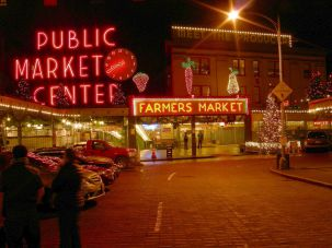 Every Vegetable Is Illuminated: Pike Place, Seattle's oldest farmer's market, was founded in 1907.