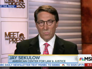 Jay Sekulow, Trump's personal lawyer.