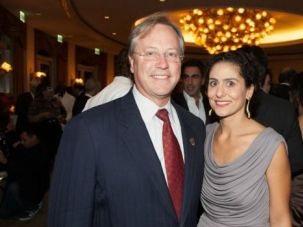 Breaking Taboo; Dr. William Warren Brien (left), former mayor of Beverly Hills, at the annual Neuromuscular Disease Foundation Gala with Carolyn Yashari Becher, executive director of NDF, which funds HIBM research and seeks to raise awareness about genetic disease in Sephardic communities.