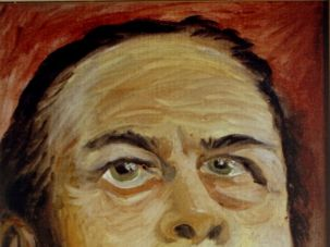 On His List: Bau painted a portrait of Oskar Schindler, the man who saved him.