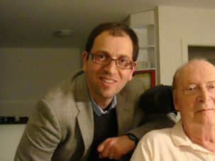 Like Author, Like Son: In 2011, Maxim D. Shrayer (left) traveled to Montreux, Switzerland, to interview critic, translator and interpreter Dmitri Nabokov.