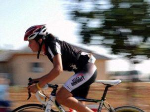 Young Israeli Cyclist Nurit Engelmeyer