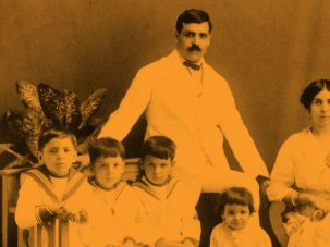 Happier Times: An aristocrat, de Sousa Mendes, shown here with his family in in 1917, enjoyed prosperity prior to his World War II heroism.