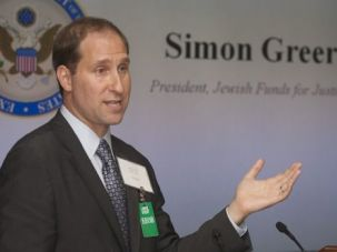 Moving Ahead: Simon Greer is leaving his post as head of Jewish Funds for Justice. The group says it has no plans to change course.