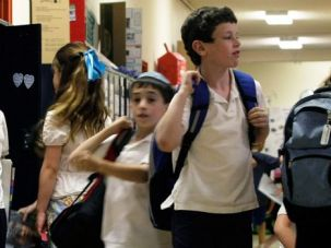 The Future: Students get ready to leave at the end of a school day at Washington, D.C.?s Jewish Primary Day School.
