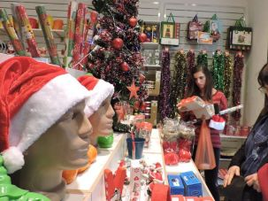 You can be Jewish and appreciate Christmas and all its trappings — such as those on display at Joy, a store that sells Christmas and New Year's merchandise in Tel Aviv, in 2015. (Ben Sales)