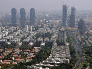 The Tel Aviv skyline.