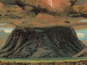 Artistic rendering of biblical Mount Sinai.