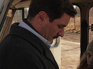 "Fleeing His Past: Alex Brendemuhl as Josef Mengele and Florencia Bado as Lilith in ""The German Doctor."""