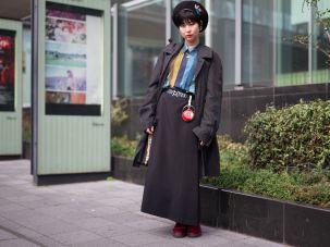 A guest at Tokyo Fashion Week