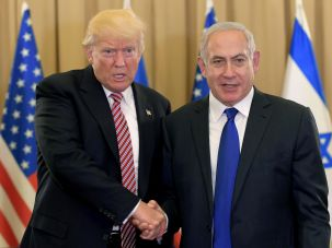 Donald Trump and Benjamin Netanyahu after their meeting in Jerusalem, May 22, 2017