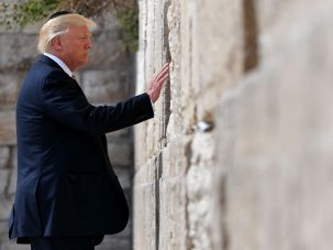 President Trump at the Western Wall, May 22, 2017