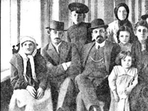 On Trial: Menakhem Mendl Beilis, whose blood libel trial took place in Ukraine in 1913, with his family in the Russian Empire of the 1910's.