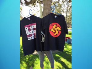 Swastika T-shirts on sale at USC campus