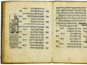 A copy of the 1556 Prague Haggadah.
