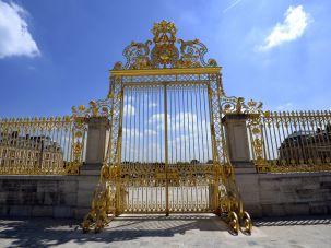 A literal gate of privilege in Versailles.