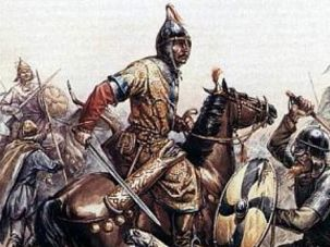 Not Our People: Khazar warriors depicted in Itil, a Silk Road city that served as the Khazar capital.