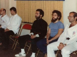Accused: Richard Andron, right, taught tora dojo, a Jewish-inspired form of martial arts, at a Manhattan Jewish center in the 1970s and early 80s. Alleged victims say he molested them at sleepovers at his apartment.