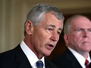 Chuck Hagel speaks at the White House after being nominated to be the next defense secretary.