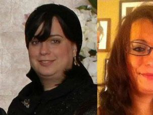 Before and After: Deb Tambor was raised as a member of the Skver Hasidim in upstate New York. She is pictured as she appeared before (left) and after leaving the group.