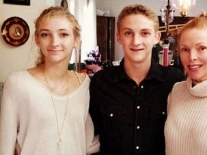 Tragic Family: Jennifer Berman, right, shown with her two children, Alex and Jacqueline.