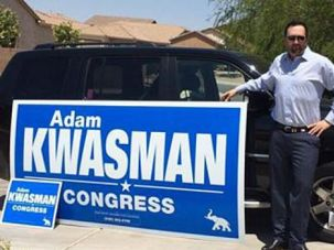 Running Right: Adam Kwasman is one of a handful of Jewish Republicans who are running for the support of conservative Tea Party supporters like the ones who toppled GOP leader Eric Cantor.