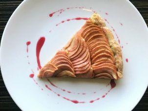Shaya's Rosh Hashanah Apple Galette With Tahini Frangipane And Honey-Hibiscus Glaze