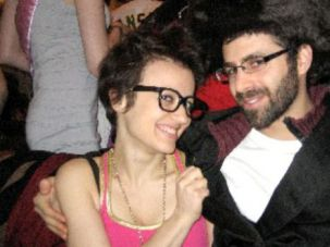 That?s So Not Funny: Some members of a Brooklyn Jewish congregation complained when William Levin, shown here with his wife, Malya, wrote ?Everyone Is Pregnant? in a newsletter.