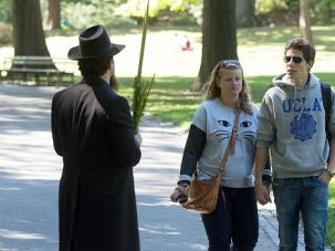 Take My Lulav, Please: Yisroel Pekar approaches unsuspecting New Yorkers in Central Park with a question ? ?Are you Jewish? ? and a gift of the lulav frond for Sukkot.