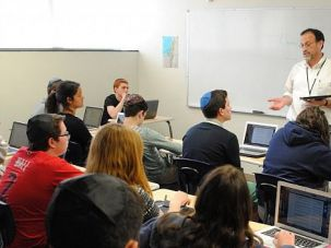 A Bible class at the Barrack Hebrew Academy in Bryn Mawr, Pennsylvania.